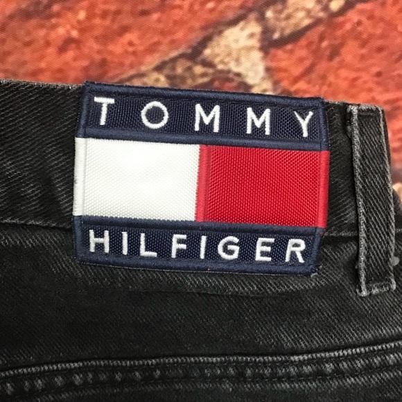 tommy hilfiger jeans black denim w tommy patch poshmark